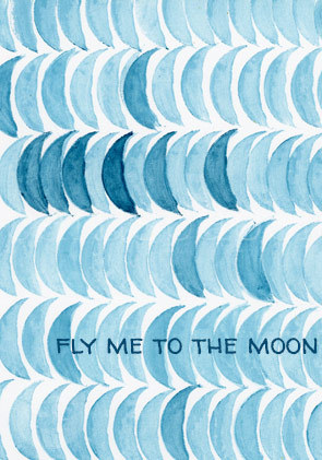 "Postkarte ""FLY ME TO THE MOON"""