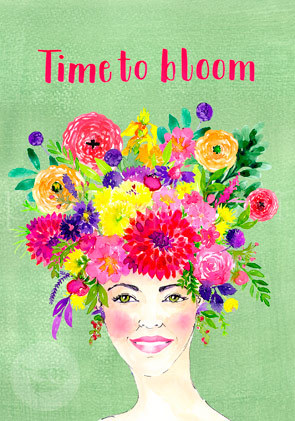 "Postkarte ""Time to bloom"""