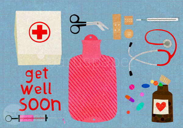 "Postkarte ""get well soon"""